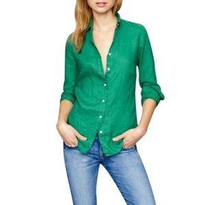 J. Crew Linen Perfect button down shirt